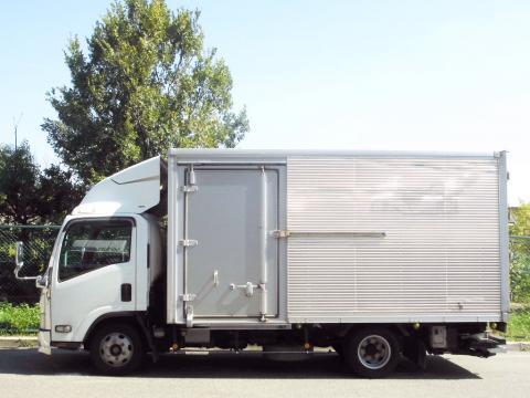中古トラック H20年式 積載3t 格納ゲート付 サイドドア付 アルミバン