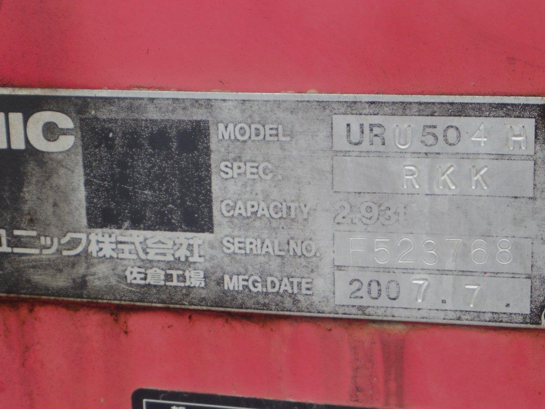中古セルフクレーン 三菱ふそう スーパーグレート