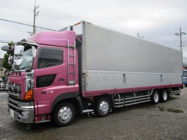 中古トラック H20年 日野4軸ウイング プロシフト ハイルーフ 検査付