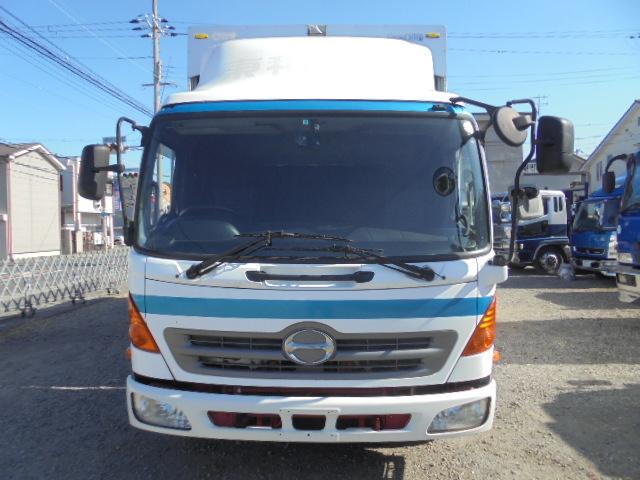 中古トラック H22年 日野4tワイド幌ウイング 電動開閉