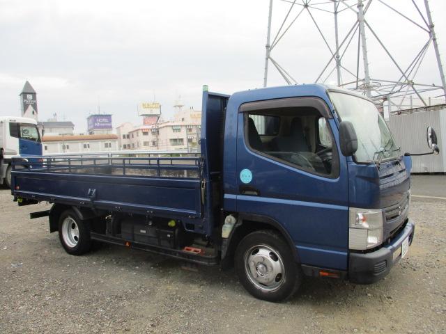中古トラック H24年 三菱 3tワイドロング平 フルフラットロー 検査付