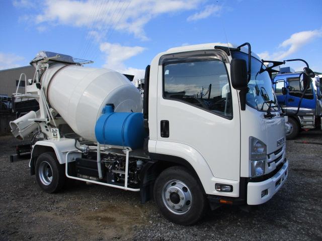 中古トラック H30年 いすゞ 4tミキサー 走行3,243キロ 検査付