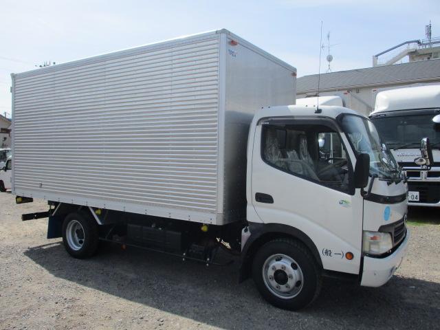 中古トラック H21年 日野 3tアルミバン フルフラットロー ターボ