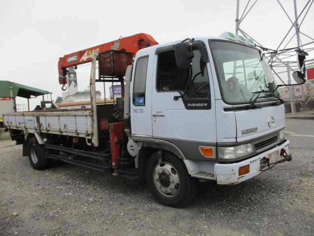 中古トラック H10年 日野 増tクレーン付平 ユニック3段