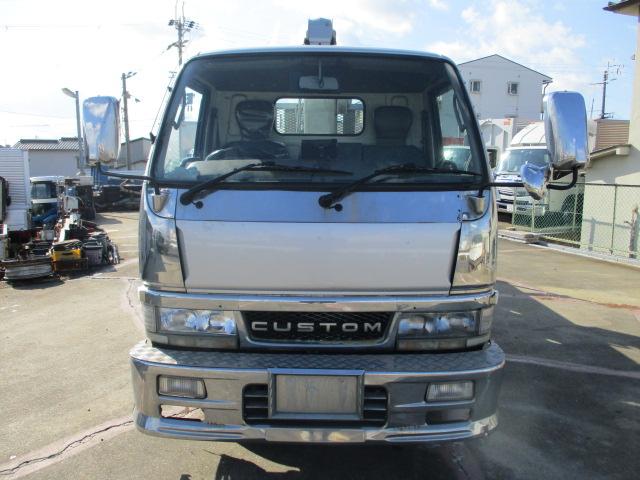 中古トラック H12年 三菱 クレーン付平 4段 フックイン ユニック