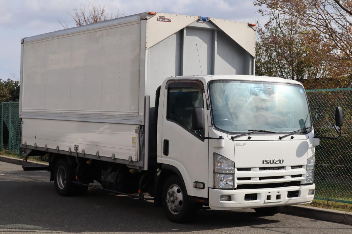 中古トラック H26年式 ワイド 積載3t 超ロング ウイング A/T車