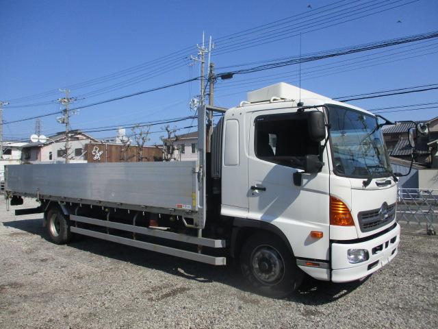 中古トラック H28年 日野 増tアルミ平 ワイド ナビ ターボ