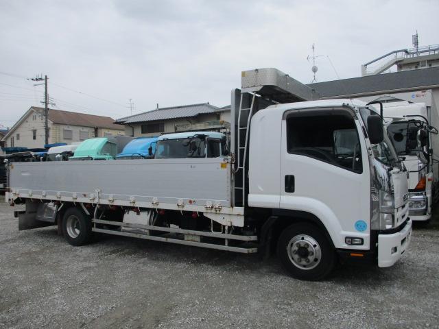 中古トラック H28年 いすゞ 4tアルミ平 18万キロ実走行 ワイド