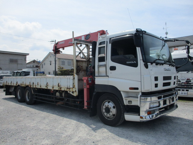 中古トラック H20年 いすゞ 25t3軸クレーン付平 ユニック