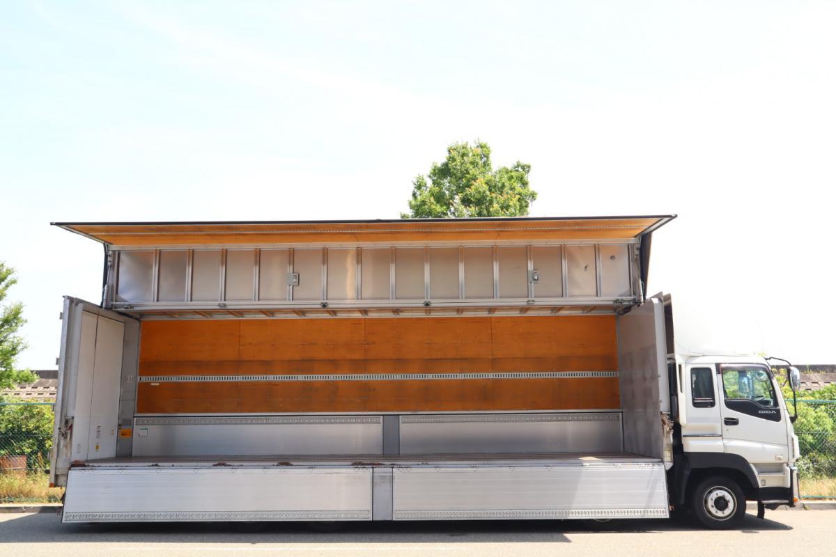 中古トラック H24年式 7速 4軸低床 E/G載せ替え歴有 ウイング