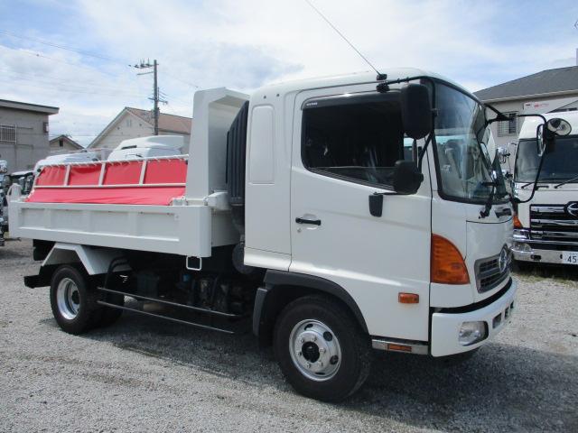 中古トラック H26年 日野 4tダンプ ベッド付 新明和