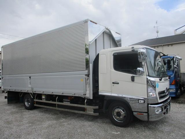 中古トラック H25年 日野4tウイング エアサス ワイド メッキ 車検付