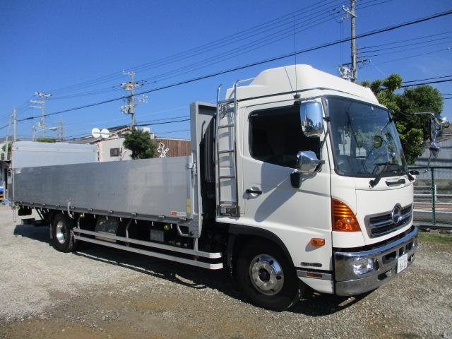 中古トラック 【動画】H28年 日野 4tアルミ平 パワゲート 車検付