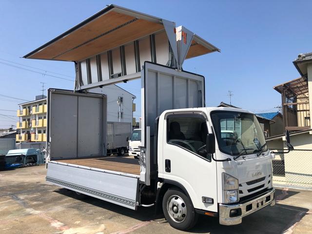 中古トラック 【動画】H31年 いすゞ3tウイング ワイドロング 格納パワーゲート