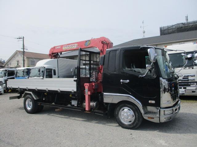 中古トラック 【動画】H20年 三菱 4tクレーン付 2.9t吊 3段 ラジコン